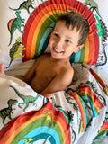 Dino Raw Bed - Single Pillowcase - Rainbowsaurus