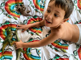 Dino Raw Bed - Single & Double Quilt Cover - Rainbowsaurus - Available for Pre-Order