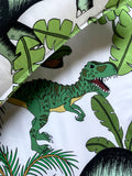 Dino Raw Bed - Single & Double Quilt Cover - Cotton - Dinosaur Wonderland