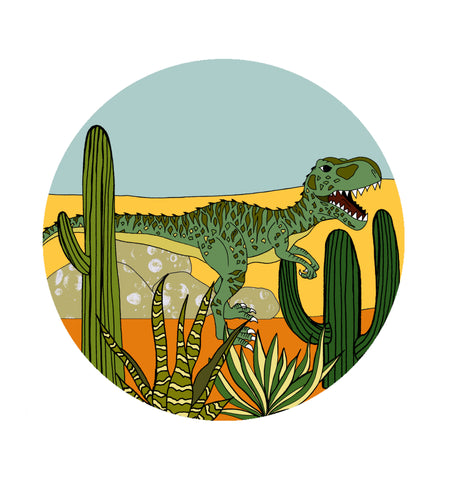 Decal Rounds - IN THE DESERT GIGANOTOSAURUS