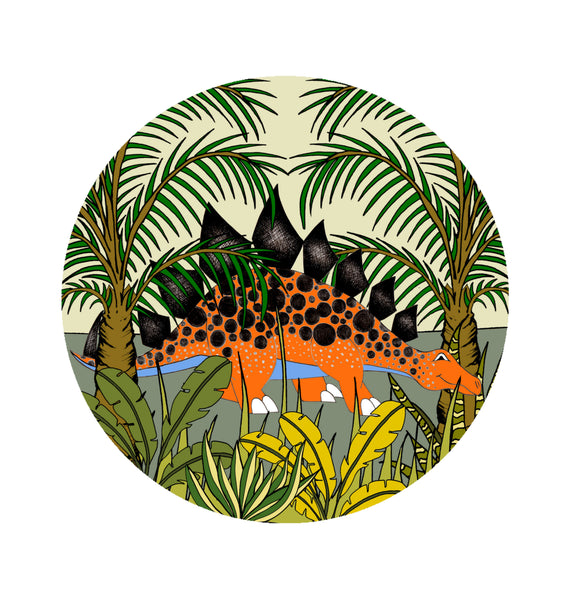 Decal Rounds - STEGOSAURUS JUNGLE