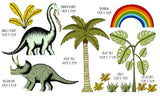 Decal Jungle Dino & Palm Selection Pack