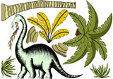 Decals - Dinosaur - Single Palm & Dinosaur Pack - Brontosaurus