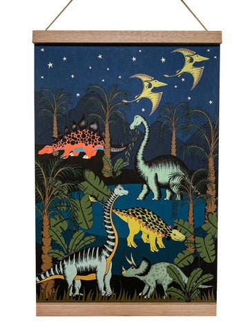 Art Hanger - Dinosaur Oasis Starry Night - A3+
