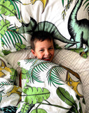 Dino Raw Bed - Double Quilt Cover - Dinosaur Wonderland - Cotton - AVAILABLE FOR PRE-ORDER