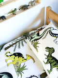 Dino Raw Bed - Single Quilt Cover - Dinosaur Adventures