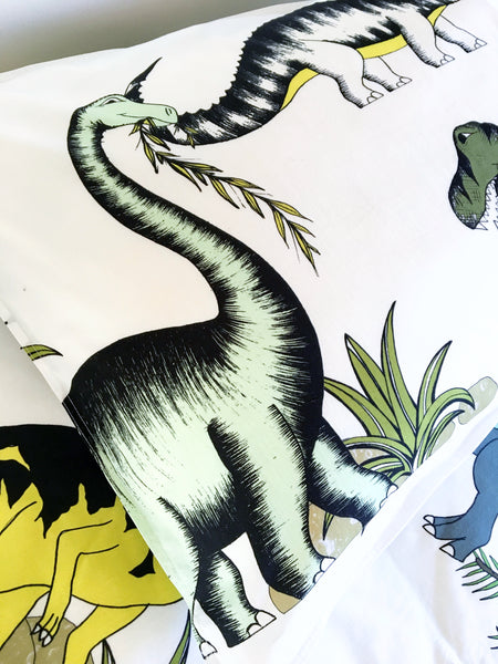 Dino Raw Bed - Single Pillowcase - Dinosaur Adventures