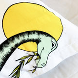 Dino Raw Bed Linen - Single Pillowcase - Rainbow Dinosaur Dreaming - SOLD OUT