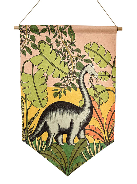 Dinosaur Banner - Jungle Adventures - Brontosaurus