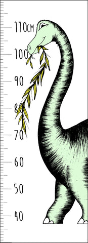 Dinosaur Growth Chart / Brontosaurus / Mint