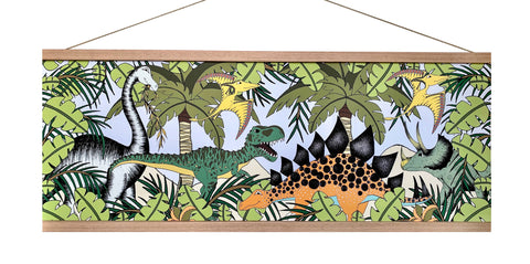 Art Hanger Large - Jungle Dino Stomp / 92cm x 32cm
