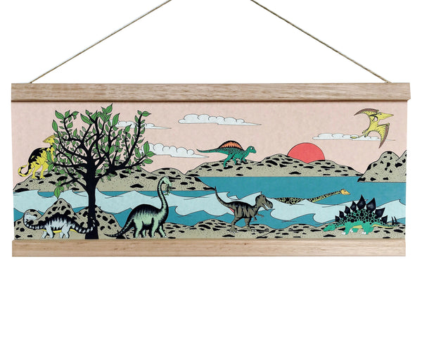Art Hanger - For The Love Of Trees & Dinosaurs - 45cm x 19cm