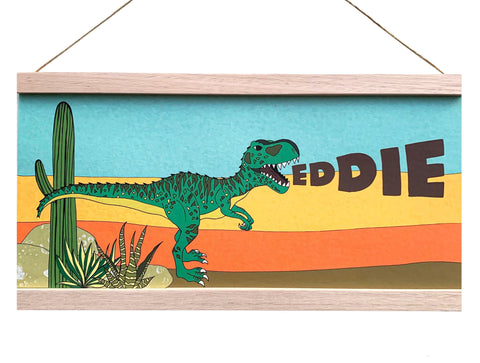 Art Hanger - Personalised Name Hanger - Giganotosaurus