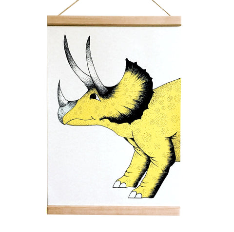 Art Hanger Pouncing Triceratops - A3+