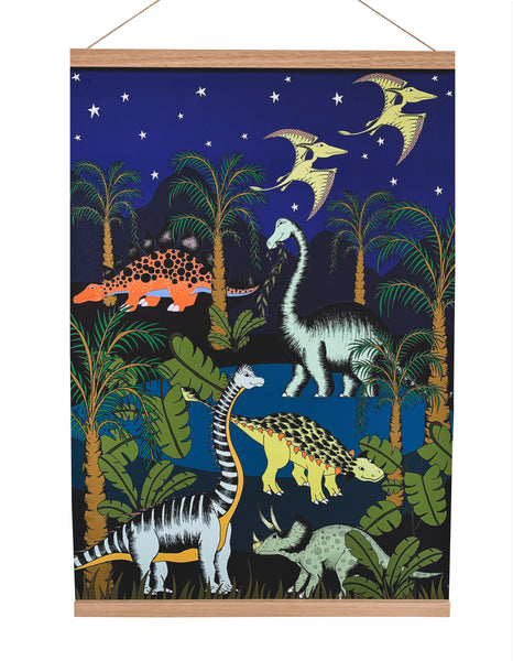 Art Hanger - Large - Dinosaur Oasis Starry Night - 50cm x 70cm