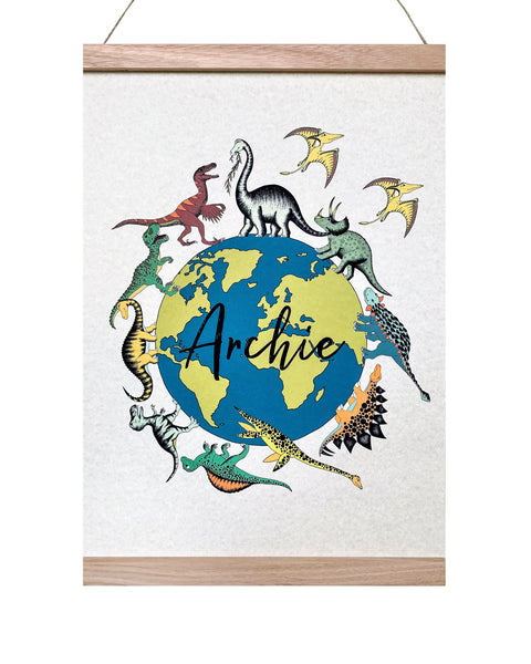 Art Hanger - Personalised Wonderful World of Dinosaurs