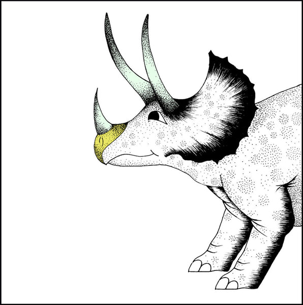 Art Hanger Pouncing Triceratops / Large Square
