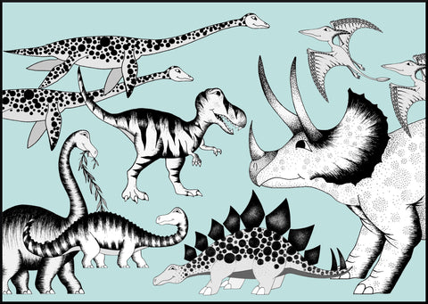 Triceratops & His Friends / A1 / A2 / 50cm x 70cm