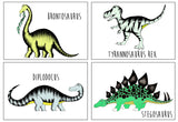 Dinosaur Name Print Package / 4 x Prints