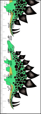 Dinosaur Growth Chart / Stegosaurus / Green