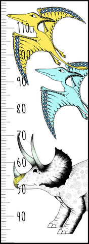 Dinosaur Growth Chart / Triceratops & Pterodactyl
