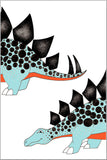 Chasing My Tail Stegosaurus Poster