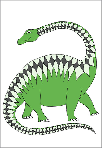 Patterned Apatosaurus