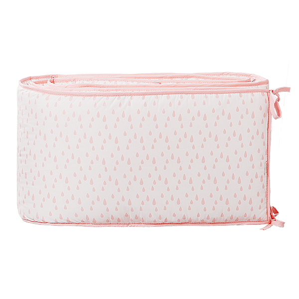 Baby bed bumper 180 cm Raindrops chintz rose