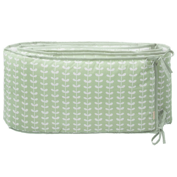 Baby bed bumper 180 cm Leaves mint