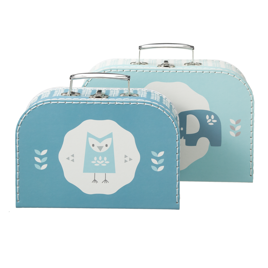Koffer set 2 st. Elefant blue