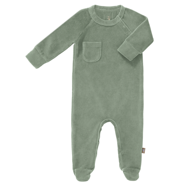 Pyjama met voet Forest Green Velours