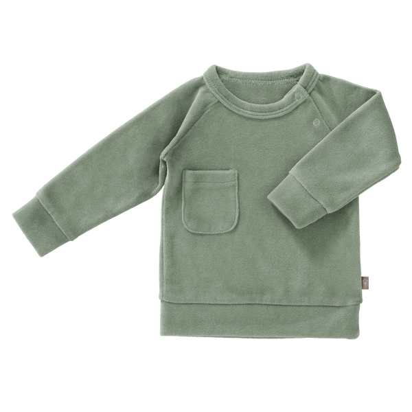 Sweater Velours Forest Green