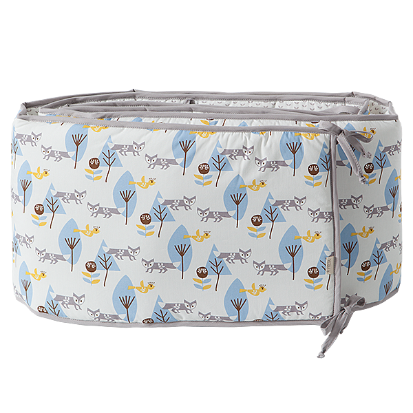 Baby bed bumper 180 cm Fox blue