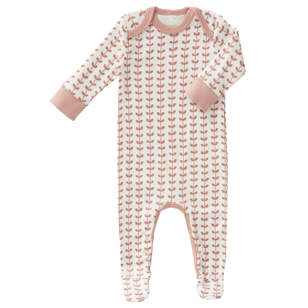 Pyjama met voet Leaves mellow rose