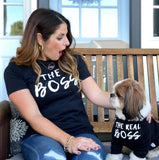 The Boss and The Real Boss Matching Shirt Set (Black)