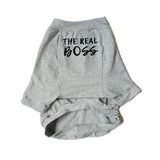 The Boss and The Real Boss Matching Shirt Set (Grey)