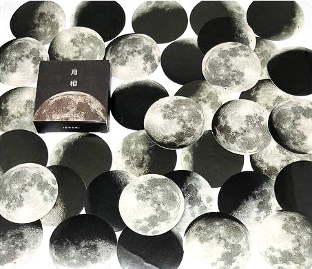 phases of the moon mini sticker flakes box of 45 stickers