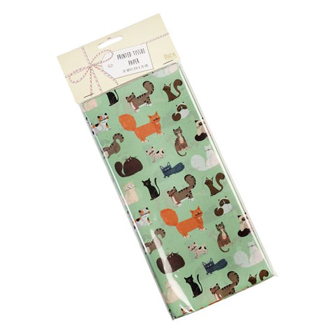 cute cat cats rex london nine lives large pack of tissue paper papers wrapping wrap uk cute kawaii packaging supplies kitten kitty kittens mint green turquoise