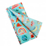 top banana cool to be kind fun rex london tissue paper turquoise blue uk cute kawaii kids wrap wrapping rainbow world kindness ice cream fruit