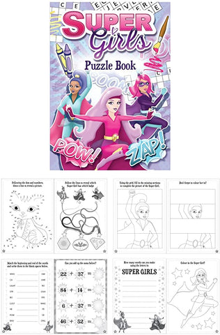 super girls puzzle book gifts for girl gift uk puzzles cute stationery activities games