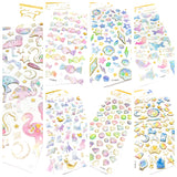 crystal puffy gold foil sticker pack planner stickers deco deconden