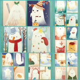 ghost mini lomo cards postcards card ghosts kawaii packs of 4 cute small postcard stationery uk