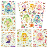 kawaii girl cute large sticker laptop matte stickers sheet pack of 5 girls
