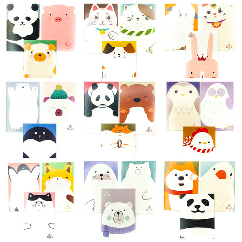 Bold Kawaii Animal Pack 3 Mini Lomo Cards
