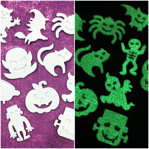 Halloween glow in the dark stickers sticker set of 10 spooky fun stationery for kids gift gifts uk cute kawaii