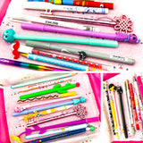 pen and pencil lucky dip bargain box stationery uk pens pencils kawaii