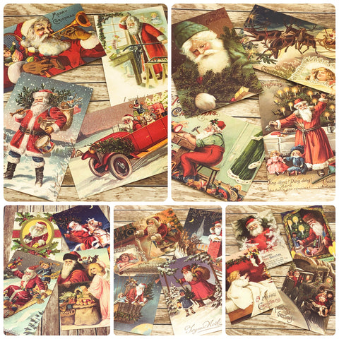 victorian style postcard christmas festive postcards vintage style father santa claus nostalgic uk cute kawaii stationery gifts bundle bundles post card