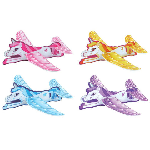 fun unicorn glider 4 pretty colours girls toy unicorns toys uk gift gifts pink yellow blue purple