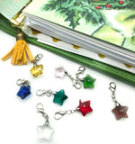 planner clip glass star clips charms charm silver tone accessories