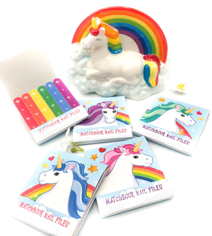 mini nail files matchbook unicorn unicorns file emery boards
